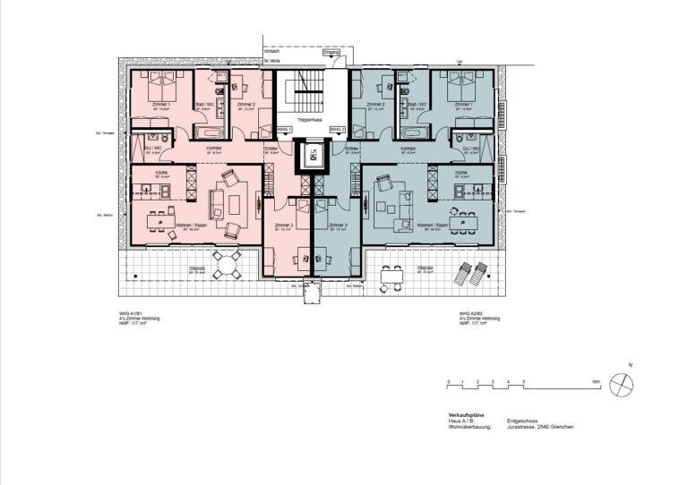 Haus A / B - Erdgeschoss