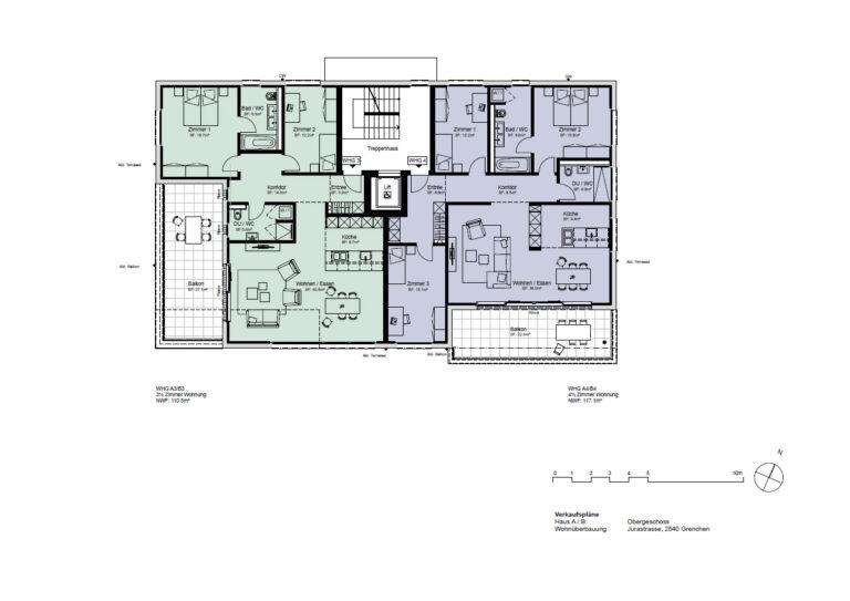 Haus A / B - Obergeschoss