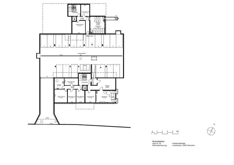 Haus A / B - Autoeinstellhalle